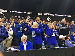 Zach James/Townsquare Media Drake fans were celebrating all weekend at the MVC Conference Tournament.
